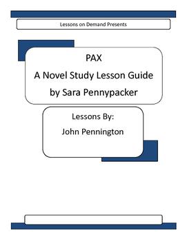 Novel Unit PAX by Sara Pennypacker