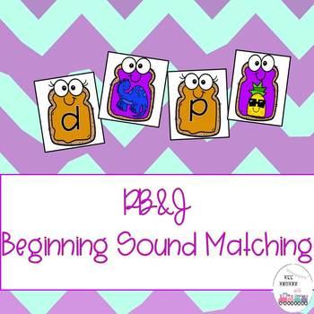 PB&J Beginning Sound Matching
