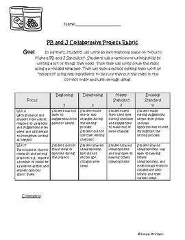 PB&J Collabrative Writing Project