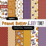 PB & J Scrapbooking Paper- Peanut Butter and Jelly- 8.5 x 11 Paper- food