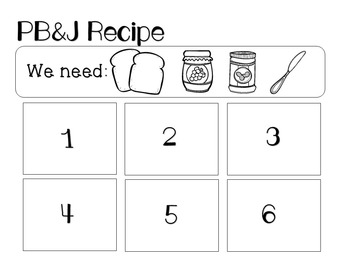 PB&J - Speech & Language Interactive Recipes