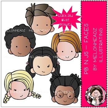 PB n Js clip art - Faces - Mini - by Melonheadz