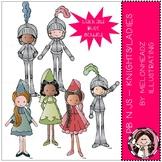 PB n Js clip art - Knights and Ladies - Mini - Melonheadz Clipart