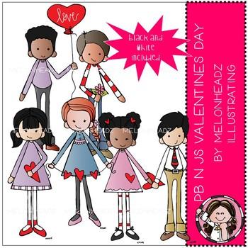 PB n Js clip art - Valentine's Day - Mini - Melonheadz Clipart