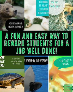 PBIS Animal-Themed Reward Cards