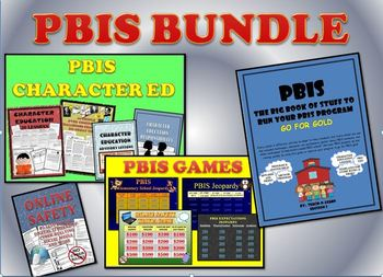 PBIS BUNDLE:  PBIS GAMES, PBIS BOOK, CHARACTER ED LESSONS