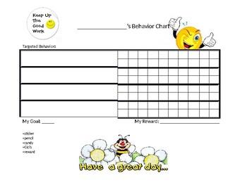 PBIS Behavior Chart