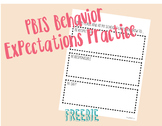 PBIS Behavior Expectation Activity