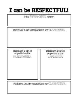 PBIS Behavior Expectations Worksheets- Primary Grades