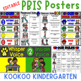 PBIS Behavior Posters (Rules, Voice Levels, Matrix, and Editable Posters)