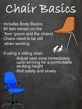 PBIS Body Basics, Line Basics, & Chair Basics Posters