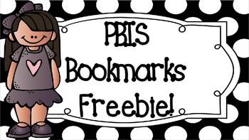 PBIS Bookmarks Freebie!