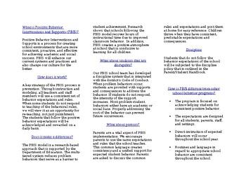 PBIS Brochure for Parents