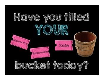 PBIS Bucket Filler Sign