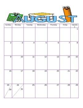 PBIS Calendars 2016-2017