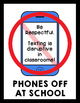 PBIS Cell Phone Classroom Posters