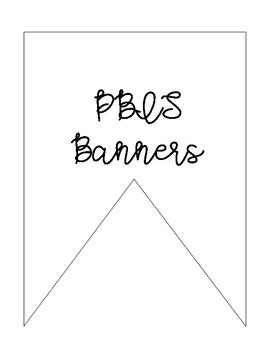 PBIS Character Traits Banners & Cards