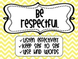 PBIS Chevron Classroom Expectation Signs_MS