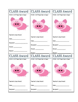 PBIS Class Rewards for Middle School Students