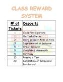 PBIS Class Reward System