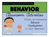 PBIS Classroom Behavior Management: Posters, Communication, and Activities