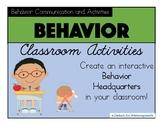 PBIS Classroom Behavior Management: Posters, Communication