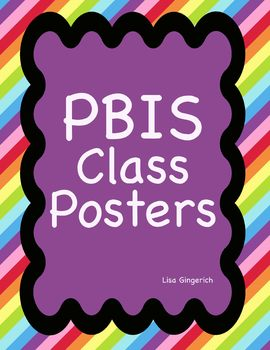 PBIS Classroom Posters