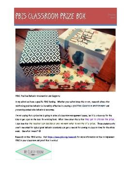 PBIS Classroom Prize Box