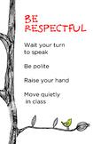PBIS Classroom Rule - Be Respectful