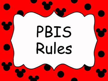 PBIS Classroom Rules in all red