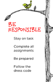 PBIS Classroom Rule - Be Responsible