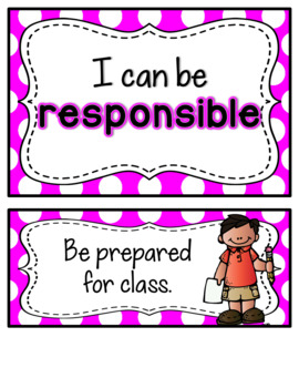 PBIS Classroom Rules Posters {Bright Polka Dot}