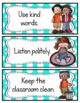 PBIS Classroom Rules Posters {Teal Polka Dot}