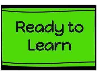 PBIS Classroom clip chart