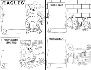 PBIS Eagle Coloring Sheets