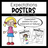 I Am Respectful, Responsible Safe Expectation Posters
