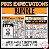 PBIS Expectations BUNDLE | Whole-Group and Individual Char
