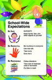 PBIS Expectations Posters - 11x17