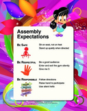 PBIS Expectations Posters - 8.5x11