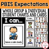 PBIS Expectations {Whole-Group & Individual Student Charts and Cards}