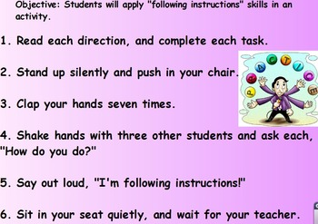 PBIS Following Instructions