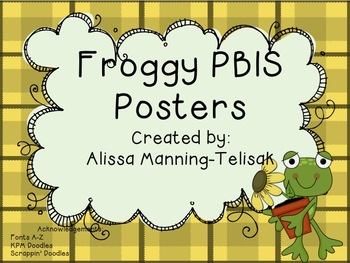 PBIS Frog Posters