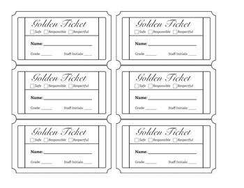 pbis golden ticket behavior management system by oh cool dude math. Black Bedroom Furniture Sets. Home Design Ideas