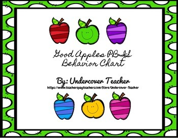 PBIS Good Apples Behavior Clip Chart - 7 Levels to clip too!