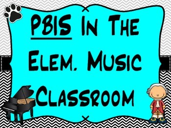PBIS In Elem. Music Room - P.A.W.S. Acrostic Matrix (Rules) Visuals/Posters