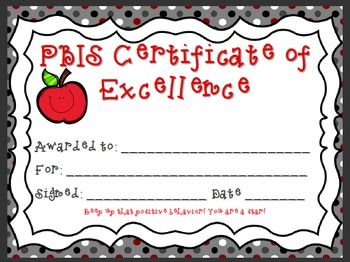 PBIS Class Rewards/Prizes to encourage positive behavior!