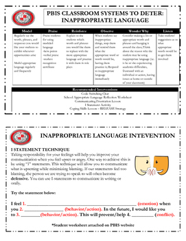 PBIS Intervention Strategy Cards