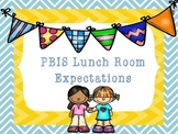 PBIS Lunch Room Expectations Posters