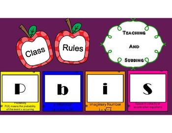 PBIS Math Class Rules