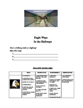 PBIS Middle School Hallway Expectations Activity
